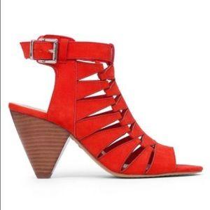 Elika Suede Stacked Heel Sandals 16KI8YSc